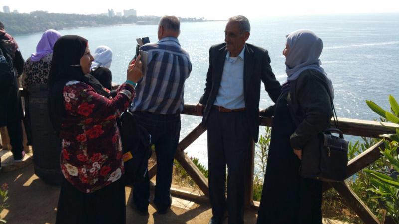 مسنو كوكب ابو الهيجاء في رحلة ترفيهية في أنطاليا التركية