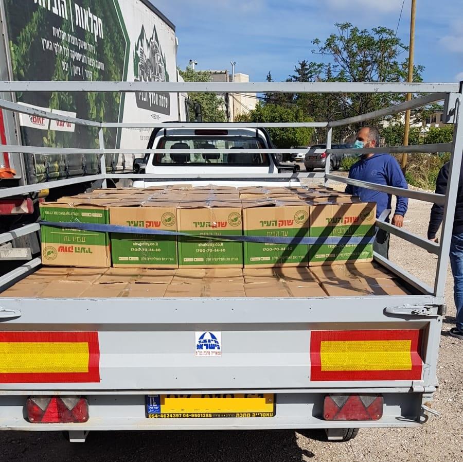 مجلس كوكب ابو الهيجاء المحلي:توزيع طرود غذائية على جمهور المسنين